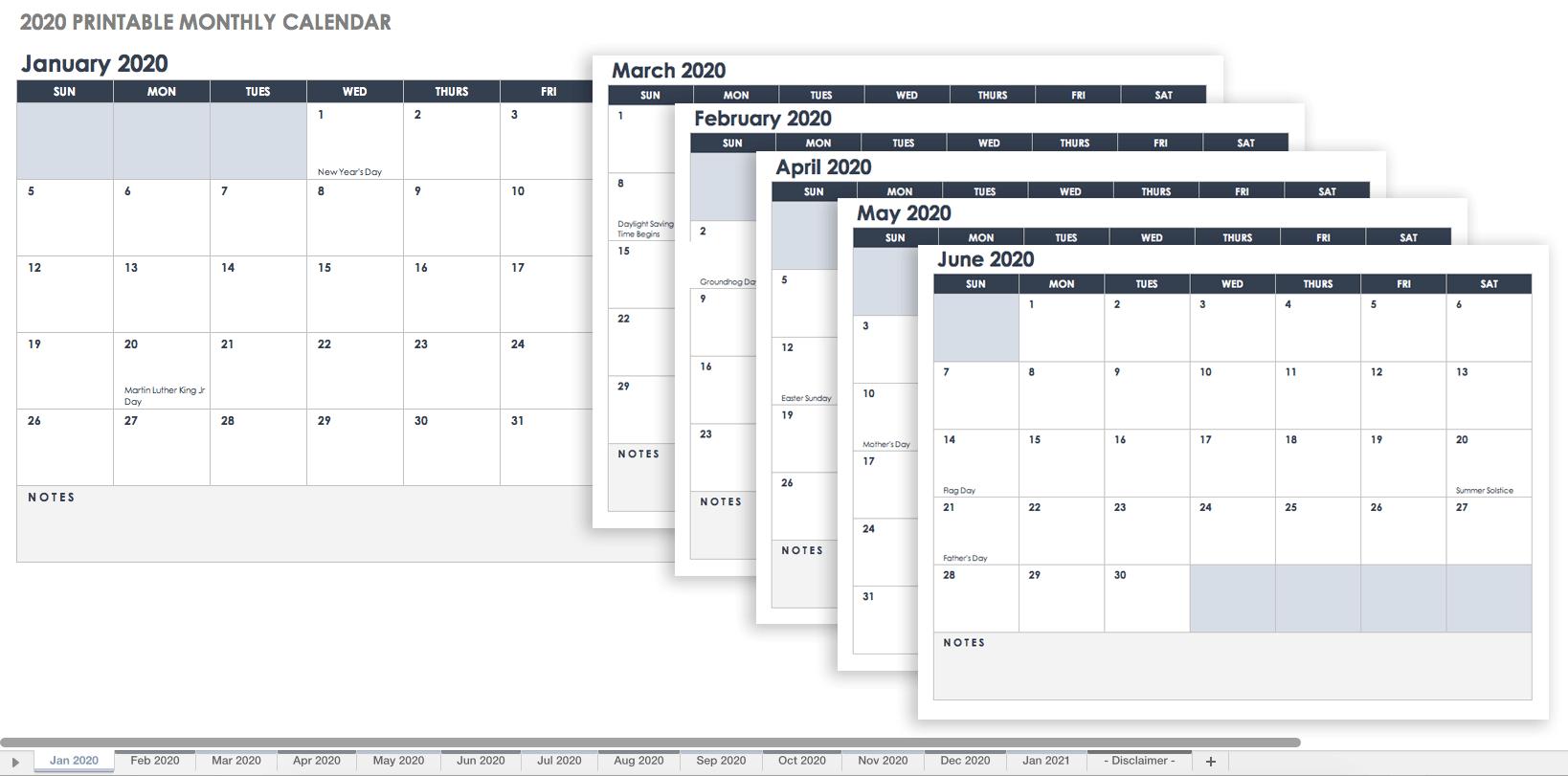 Blank Calendar Excel Spreadsheet