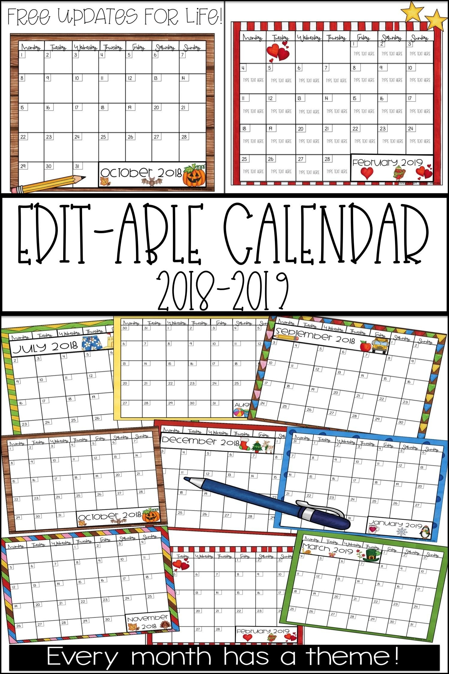Blank Calendar For Kindergarten To Fill In Graphics