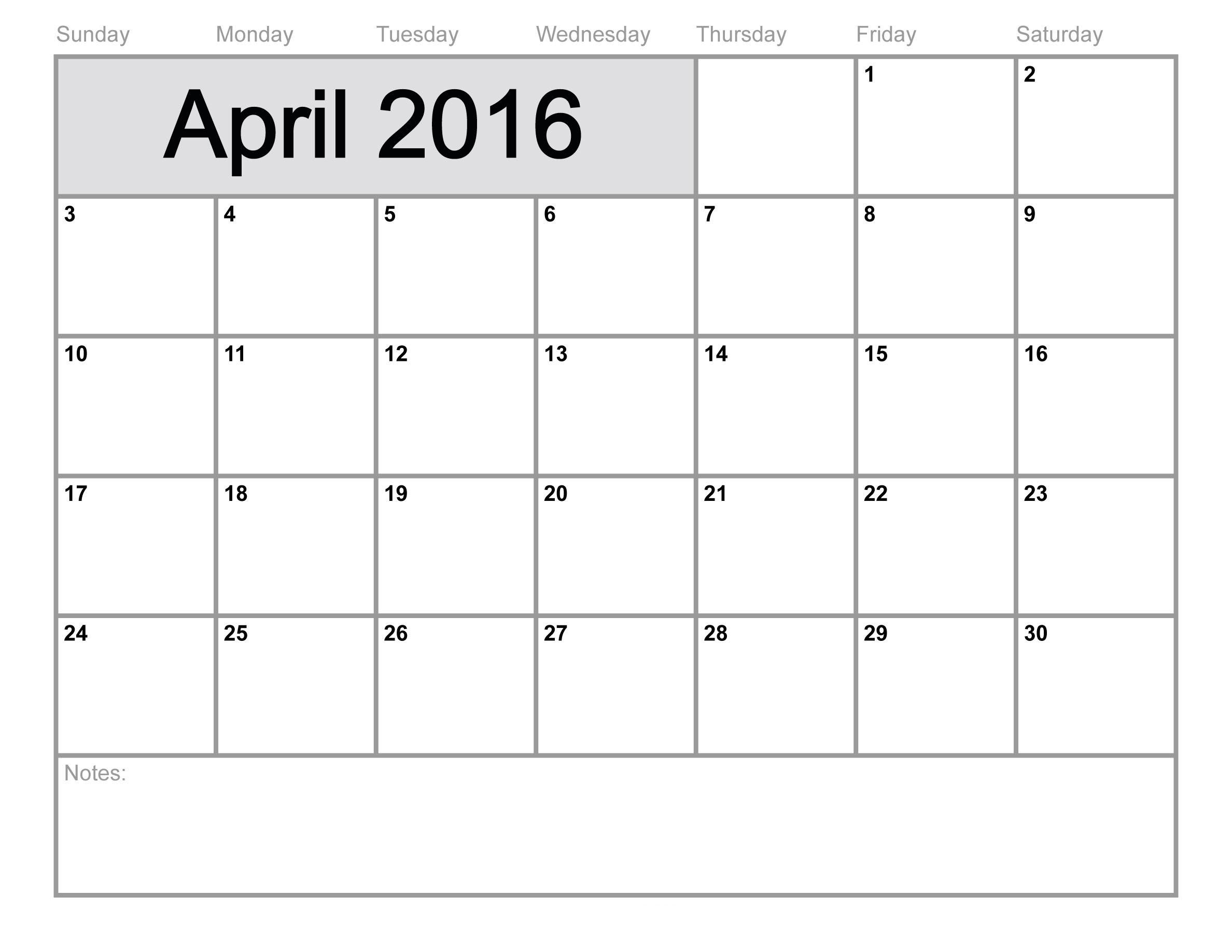 Blank Calendar For Kindergarten To Fill In
