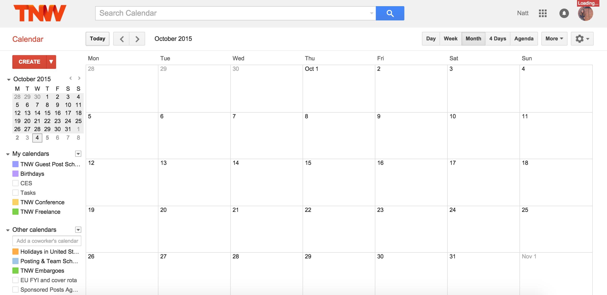 Blank Calendar Google Photo