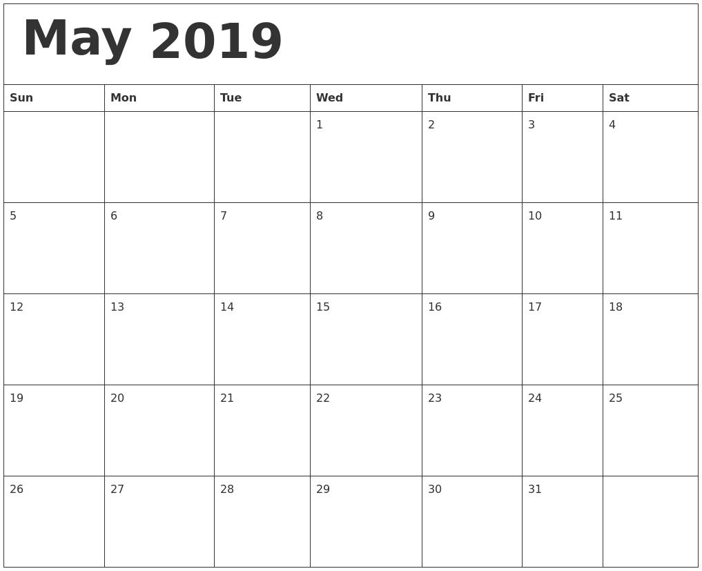 Blank Calendar High Resolution