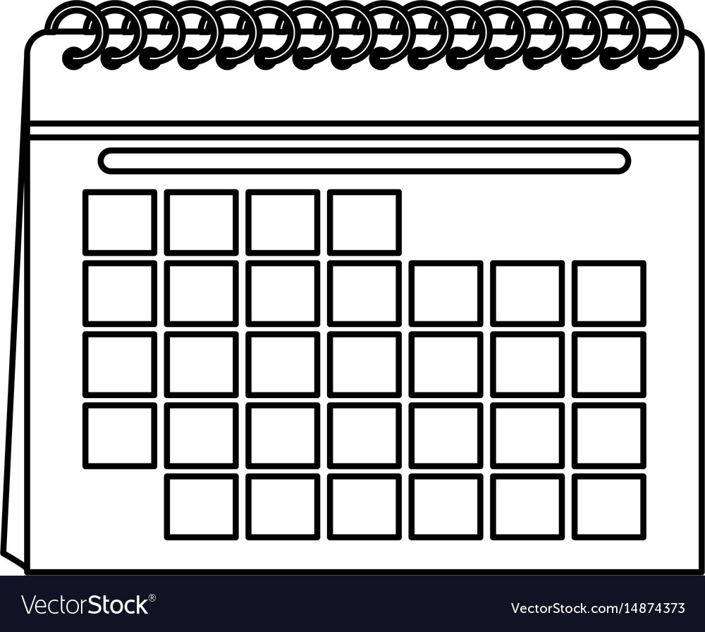 Blank Calendar Icon Image Vector Image On Vectorstock