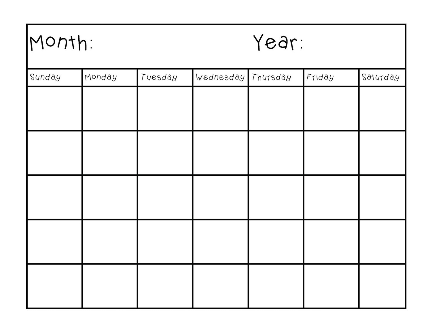 Blank Calendar In Pages