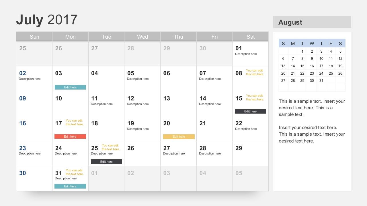 Blank Calendar In Powerpoint