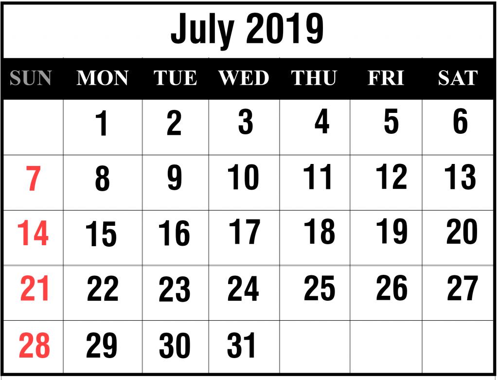 Blank Calendar In Word
