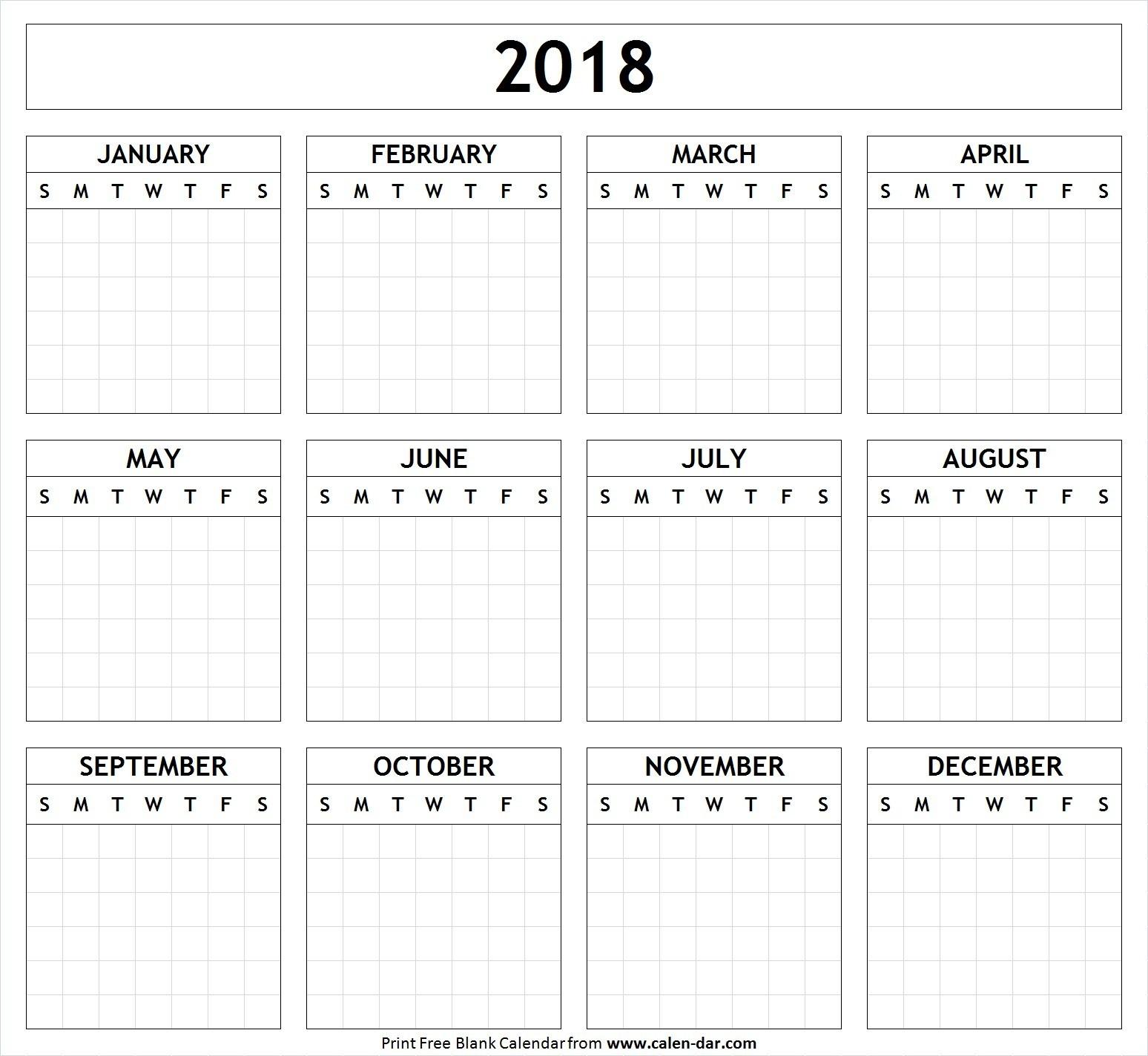 Blank Calendar Ks1