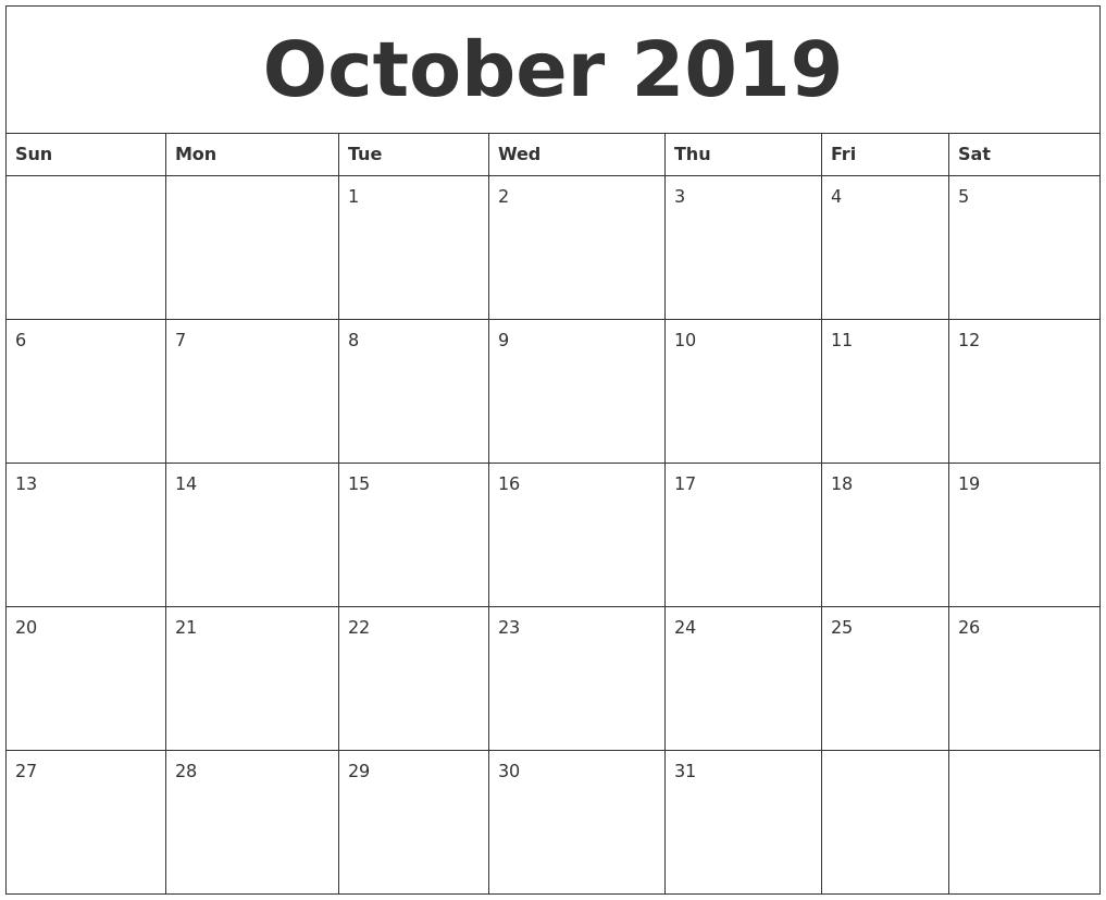 Blank Calendar Month Pdf