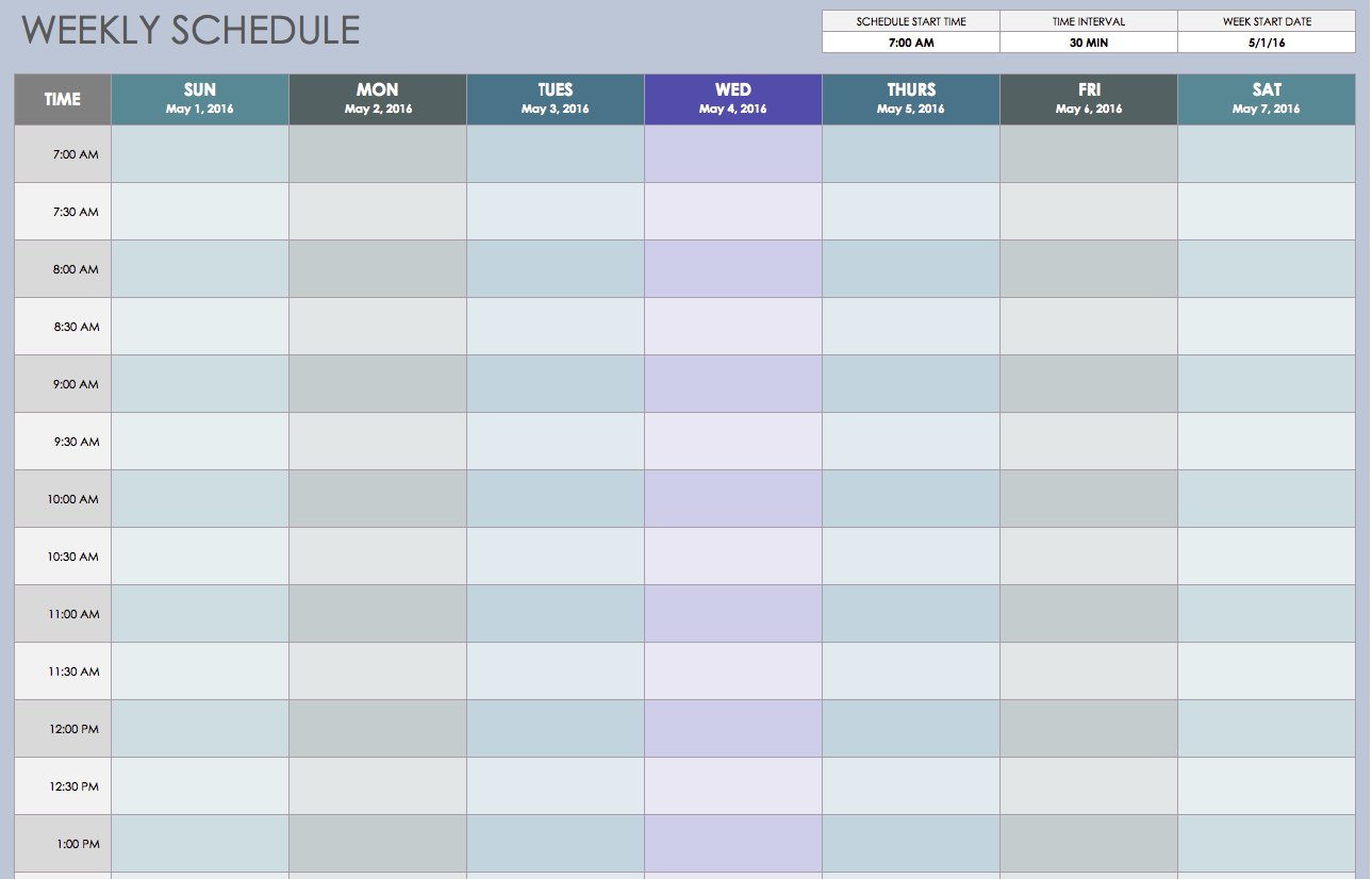 Blank Calendar No Days Of The Week