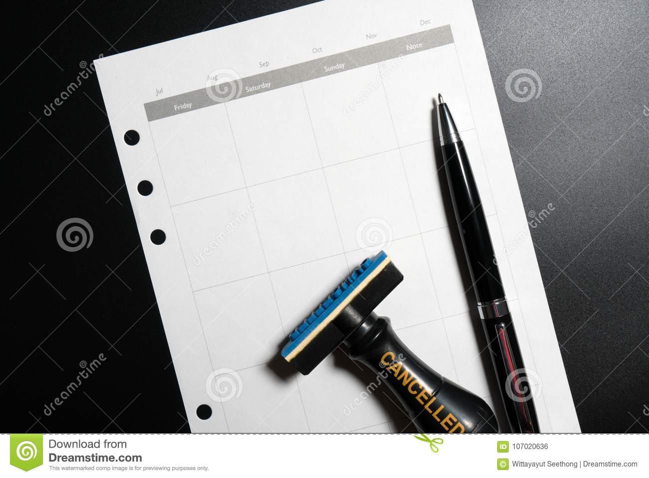 Blank Calendar Stamp
