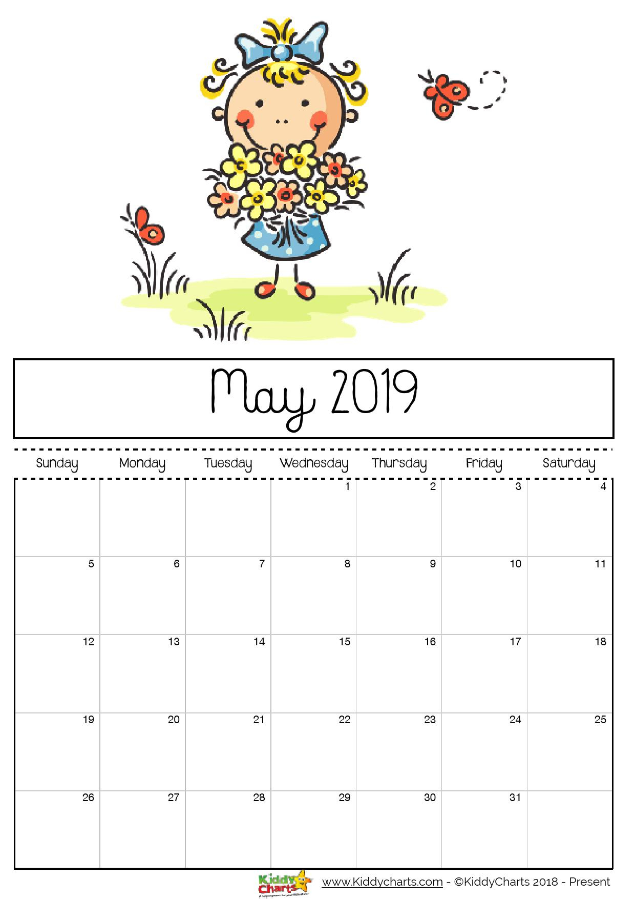 Blank Calendar Template Ks1