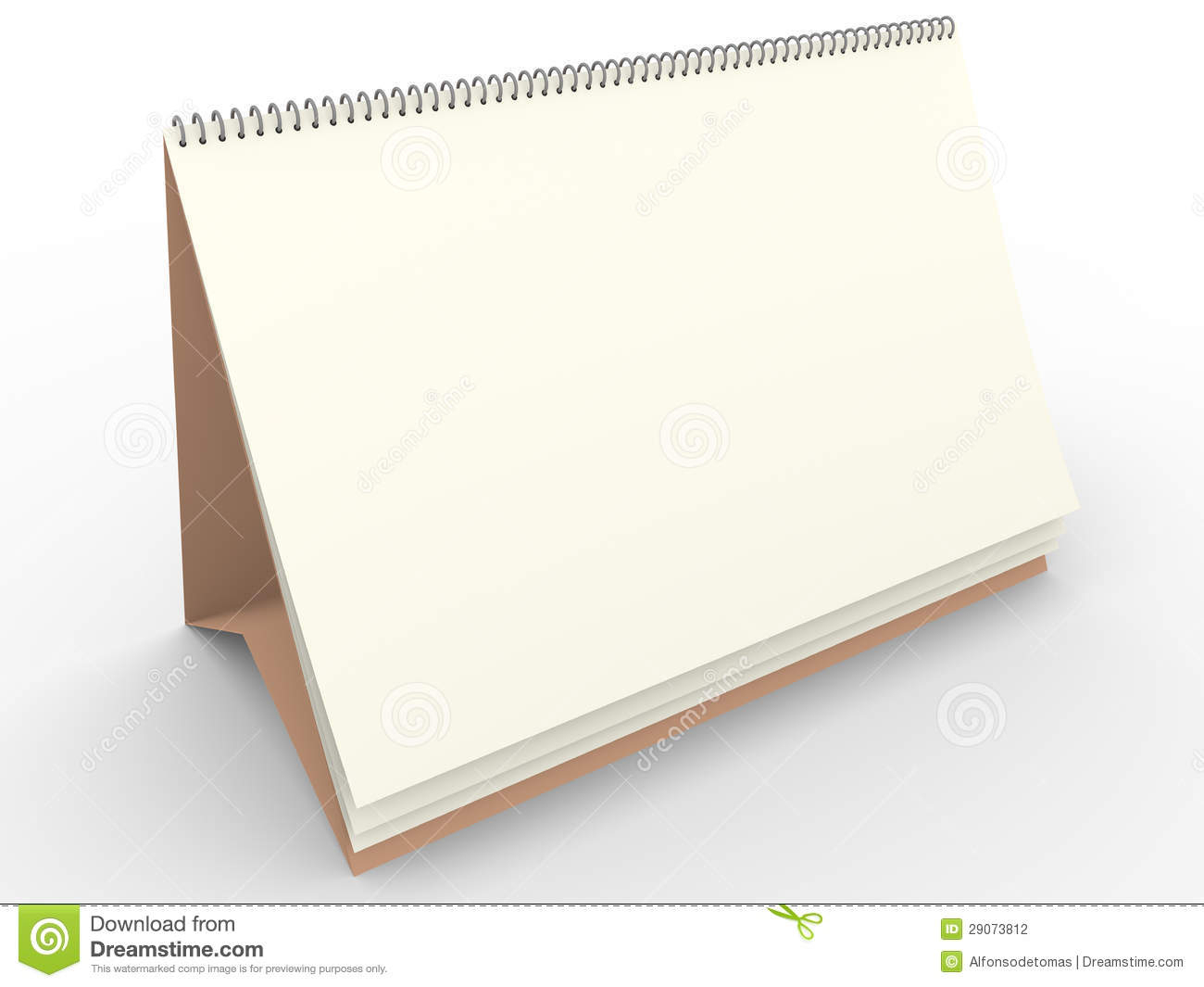 Blank Calendar Template Stock Illustration. Illustration Of