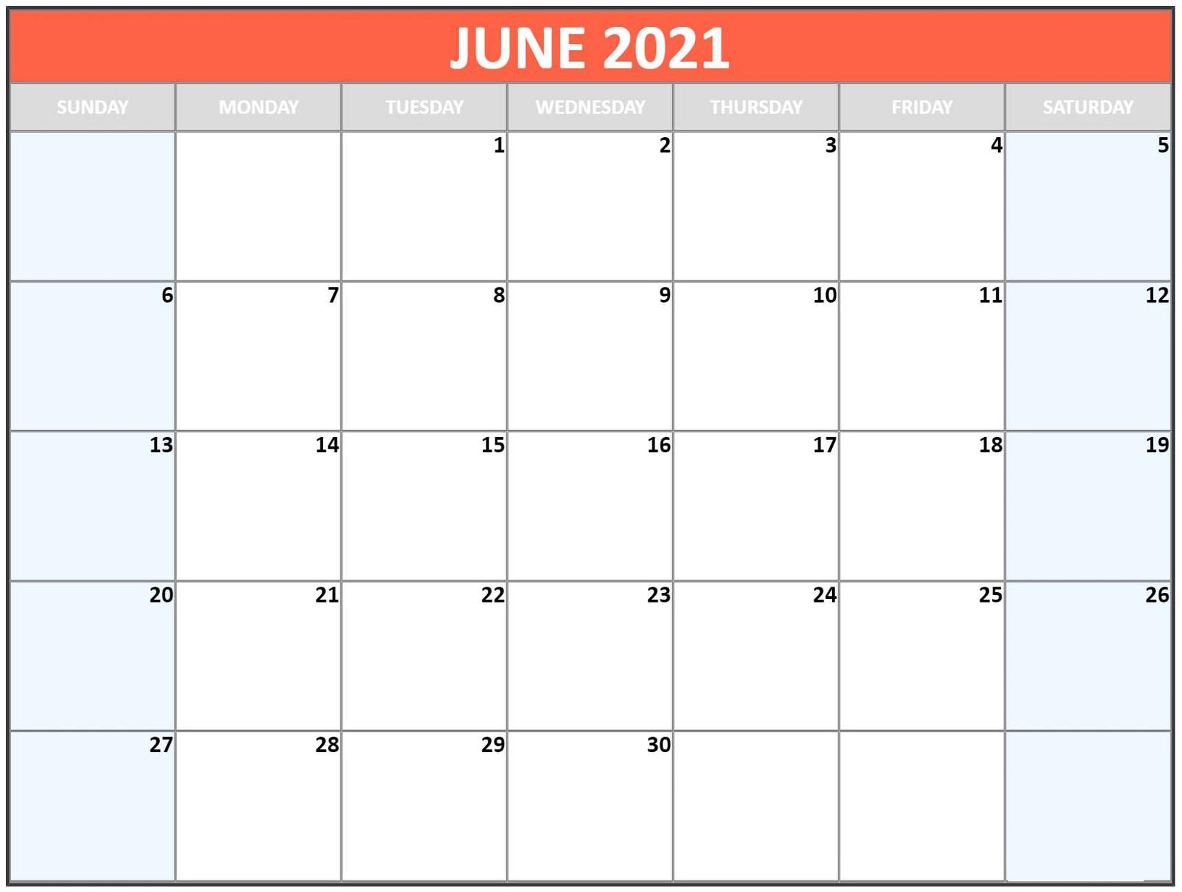 Blank Calendar Template Word 2021 Various Months