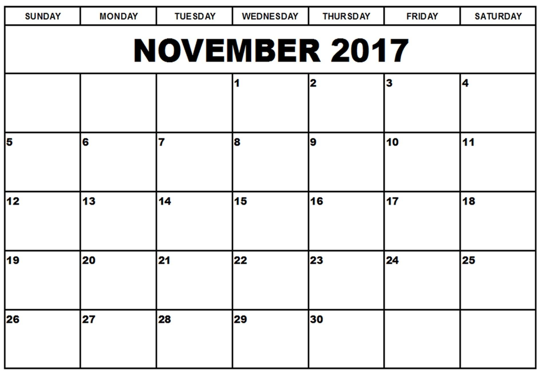 Blank Calendar With Dates