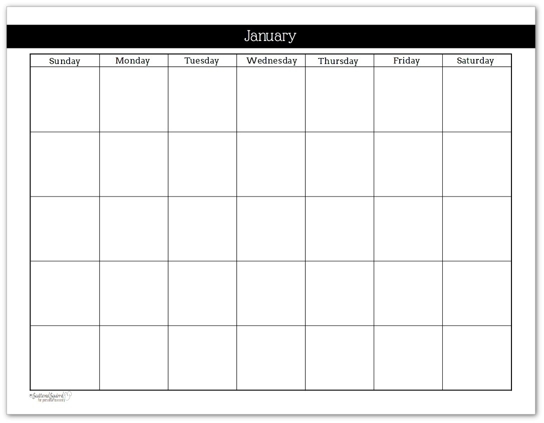 Blank Calendar Without Dates