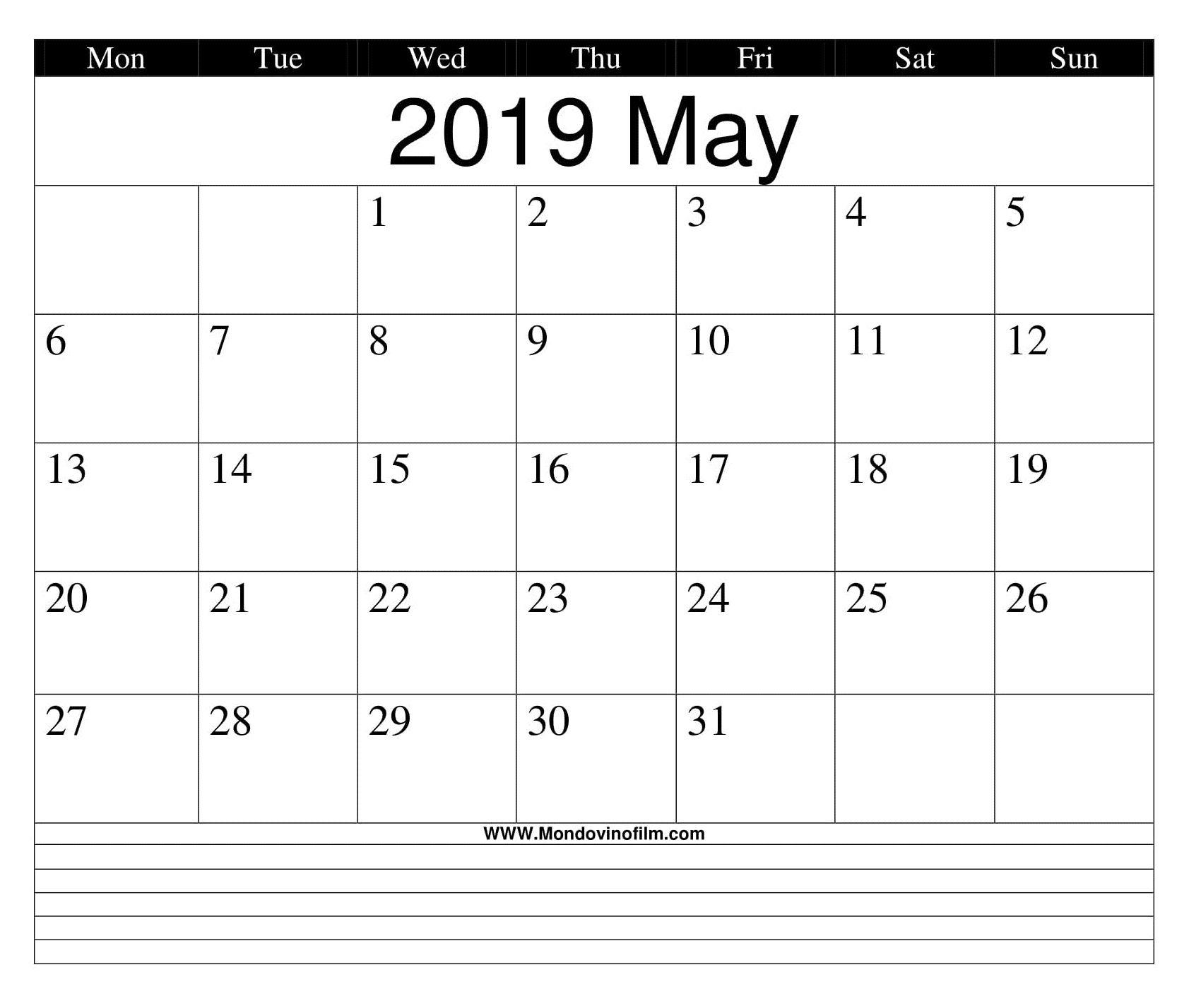 Blank Calendar Worksheets