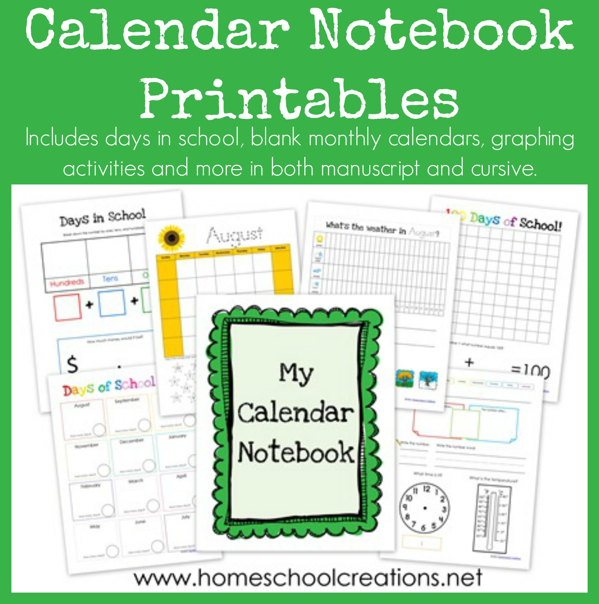 Blank Calendar Worksheets Kindergarten