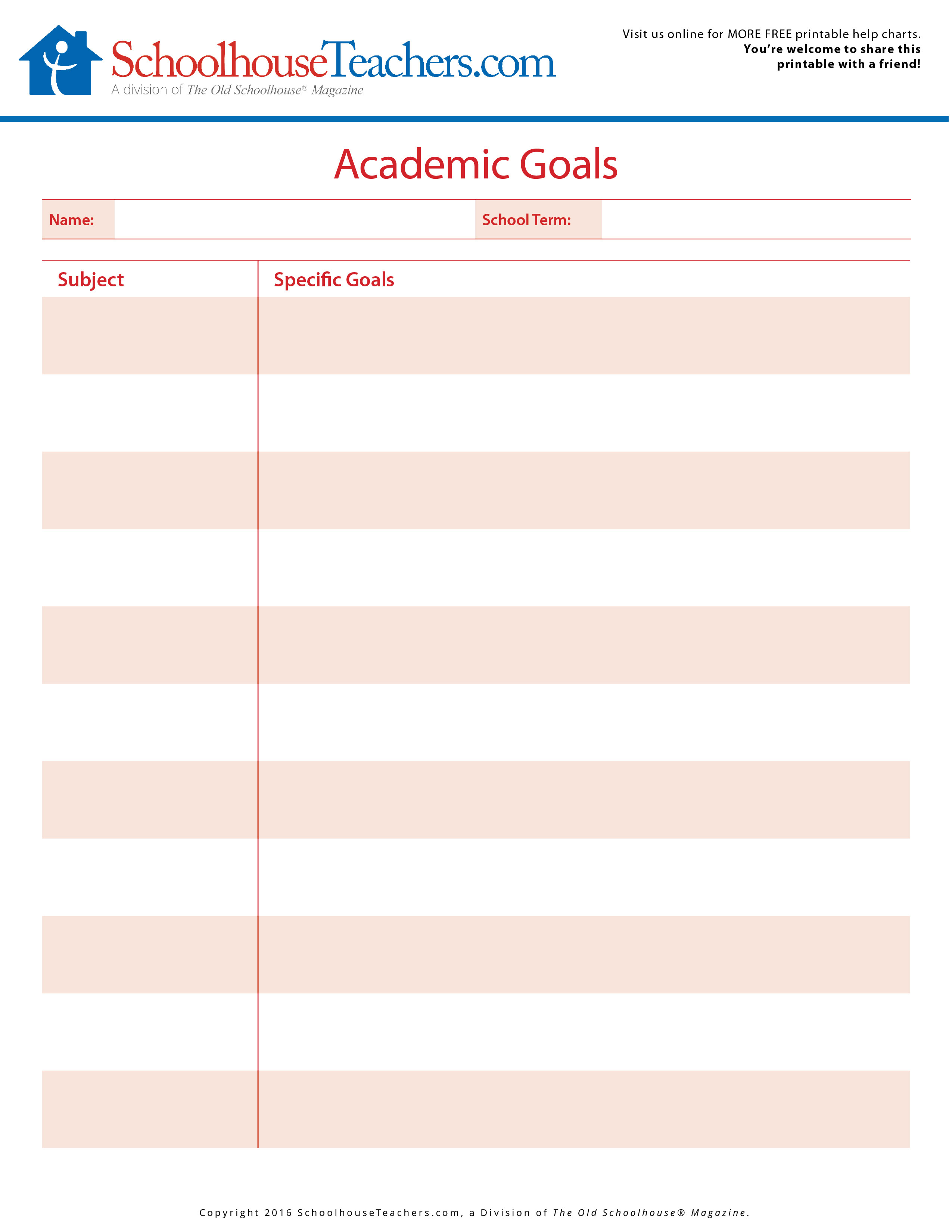 Blank Homeschool Calendar