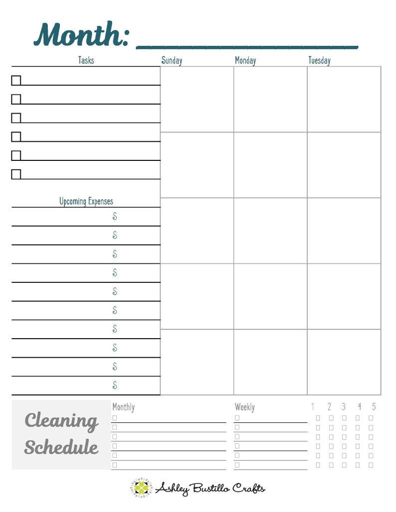 Blank Month Calendar 2 Page