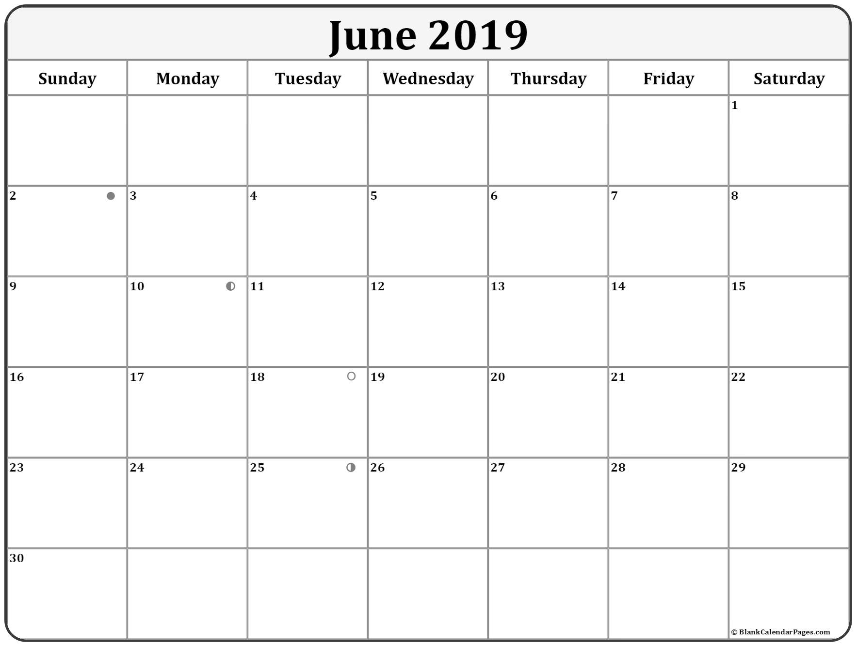 Blank Moon Phase Calendar