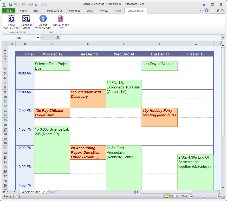 Blank Schedule Maker Endar Creator For Word And Excel Template