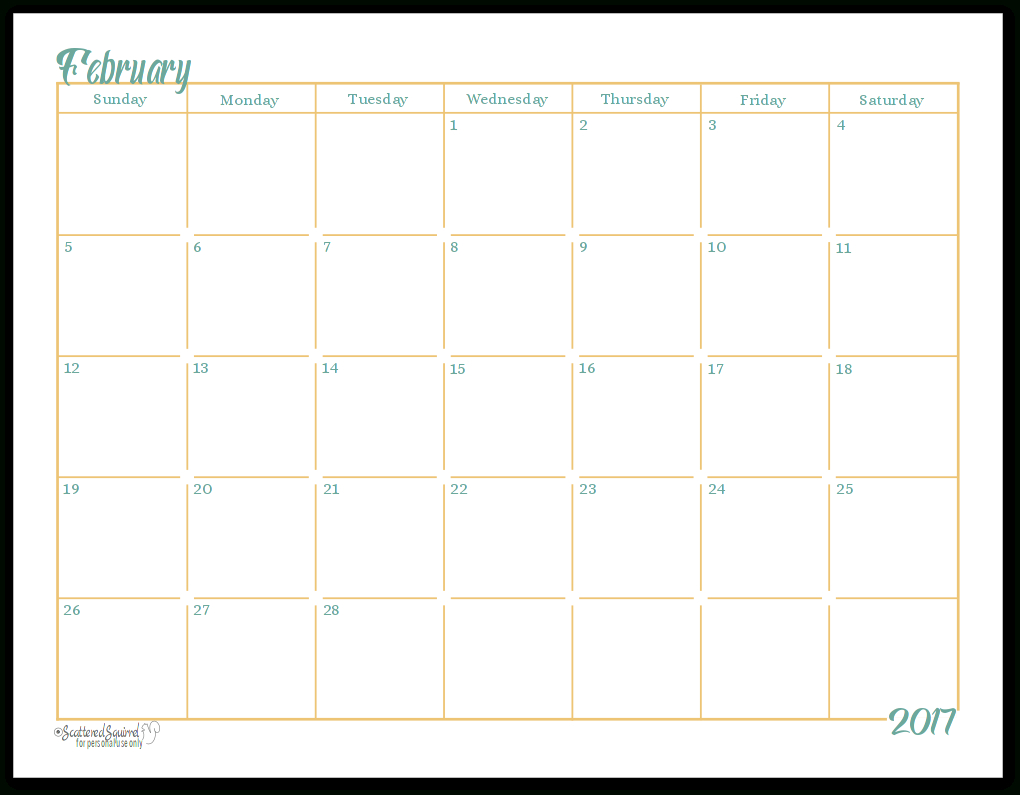 Blank Understated Calendar