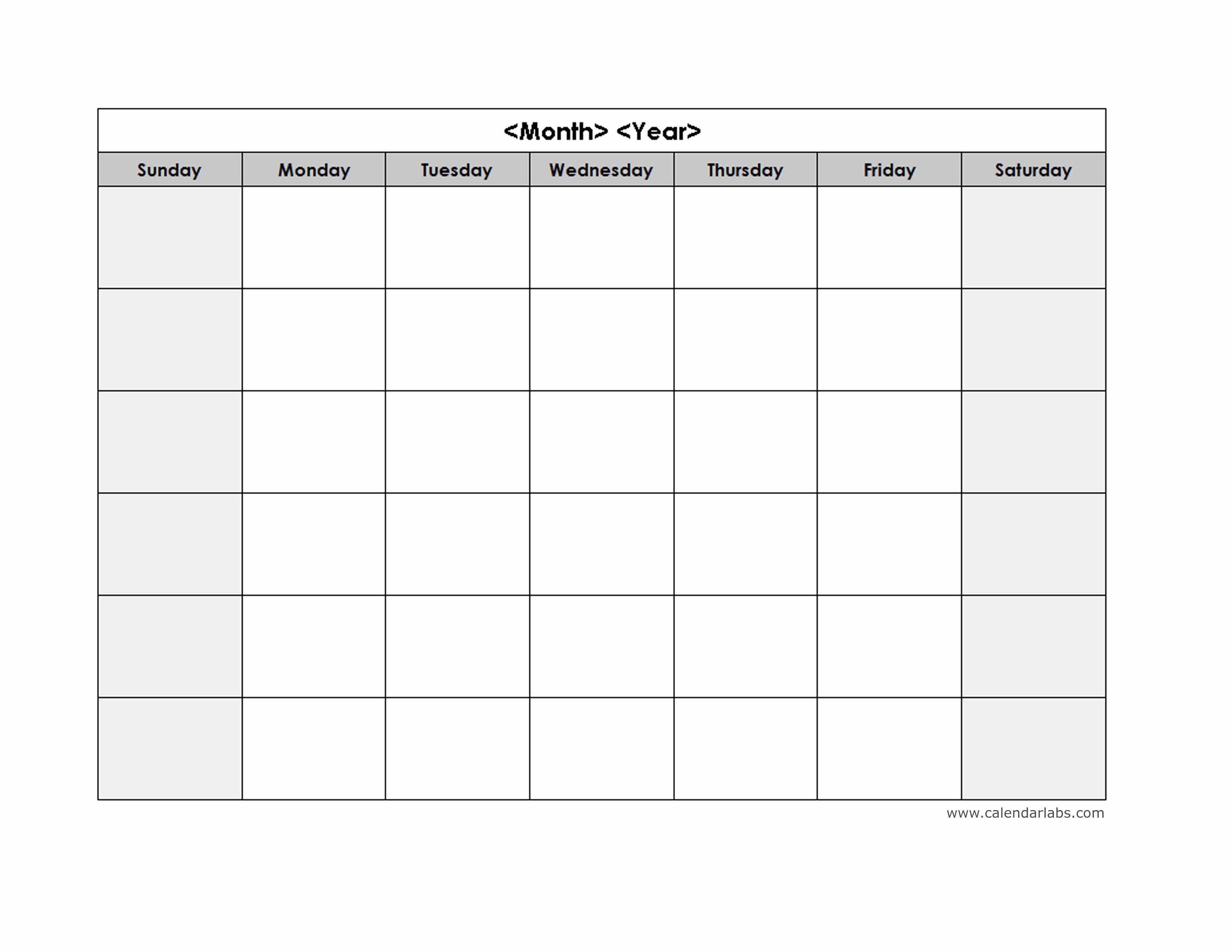 Blank Weekly Calendar Template Weekly Calendar Pdf Diy Weekl