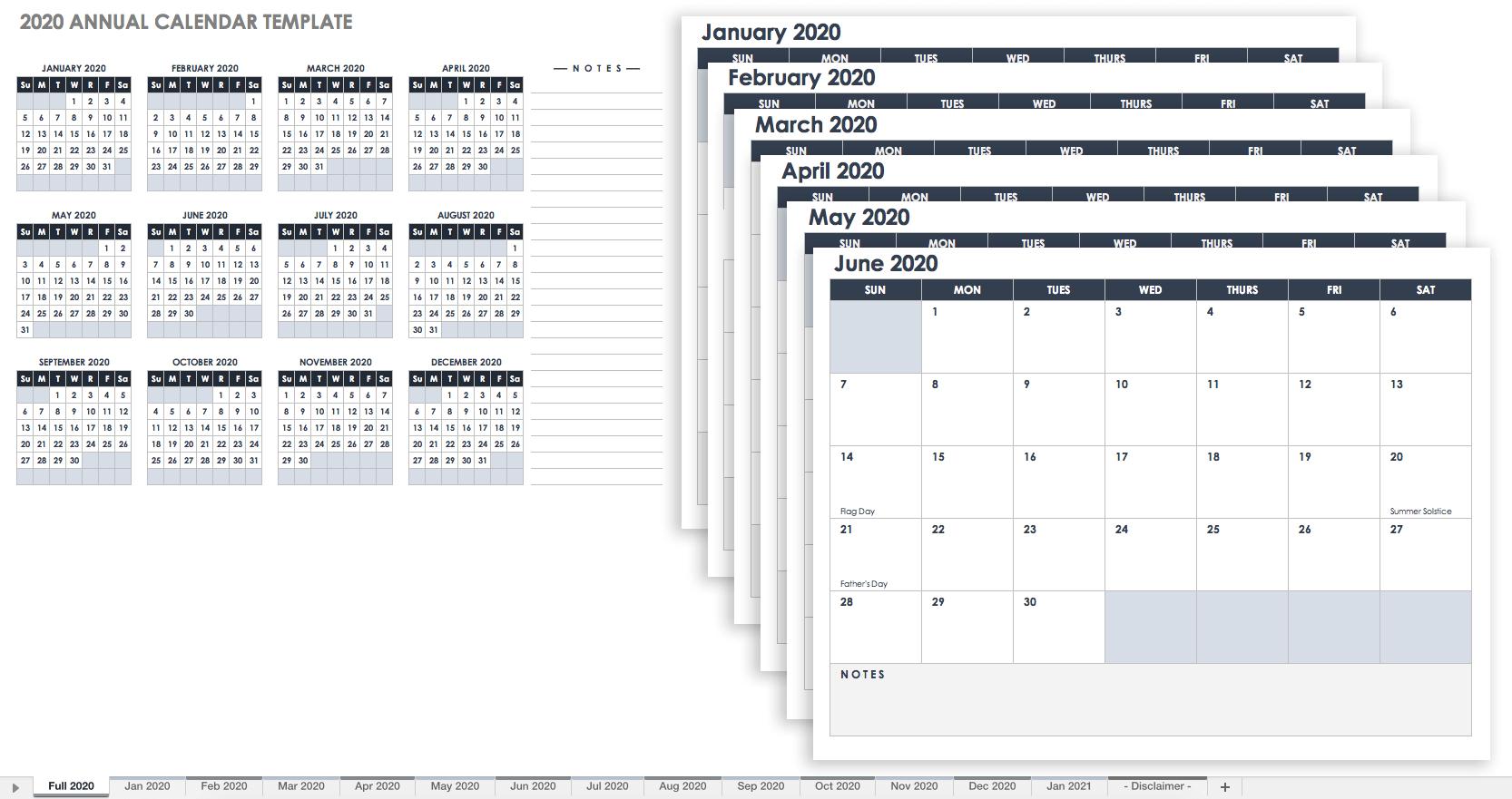 Blank Yearly Calendar Template Pdf