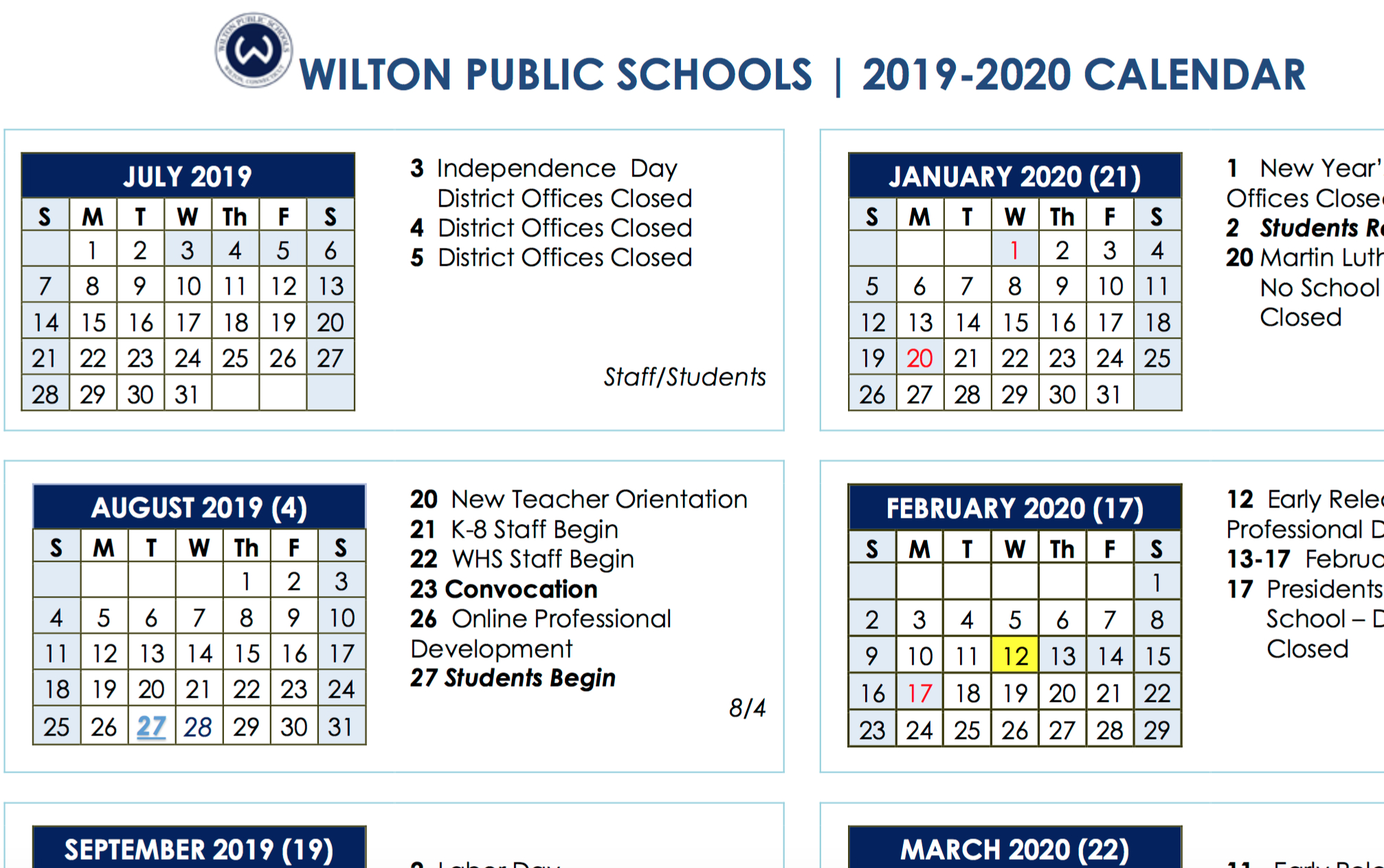 Board Of Education Approves 2019-2020 And 2020-2021 School Year