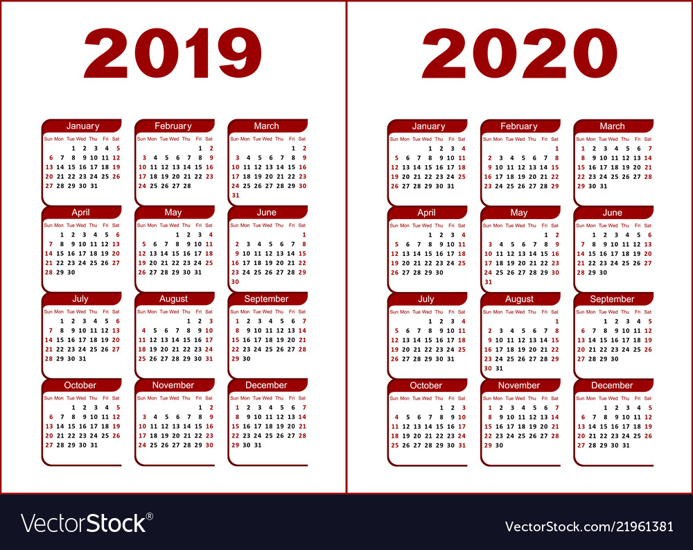 Calendar 2019 2020