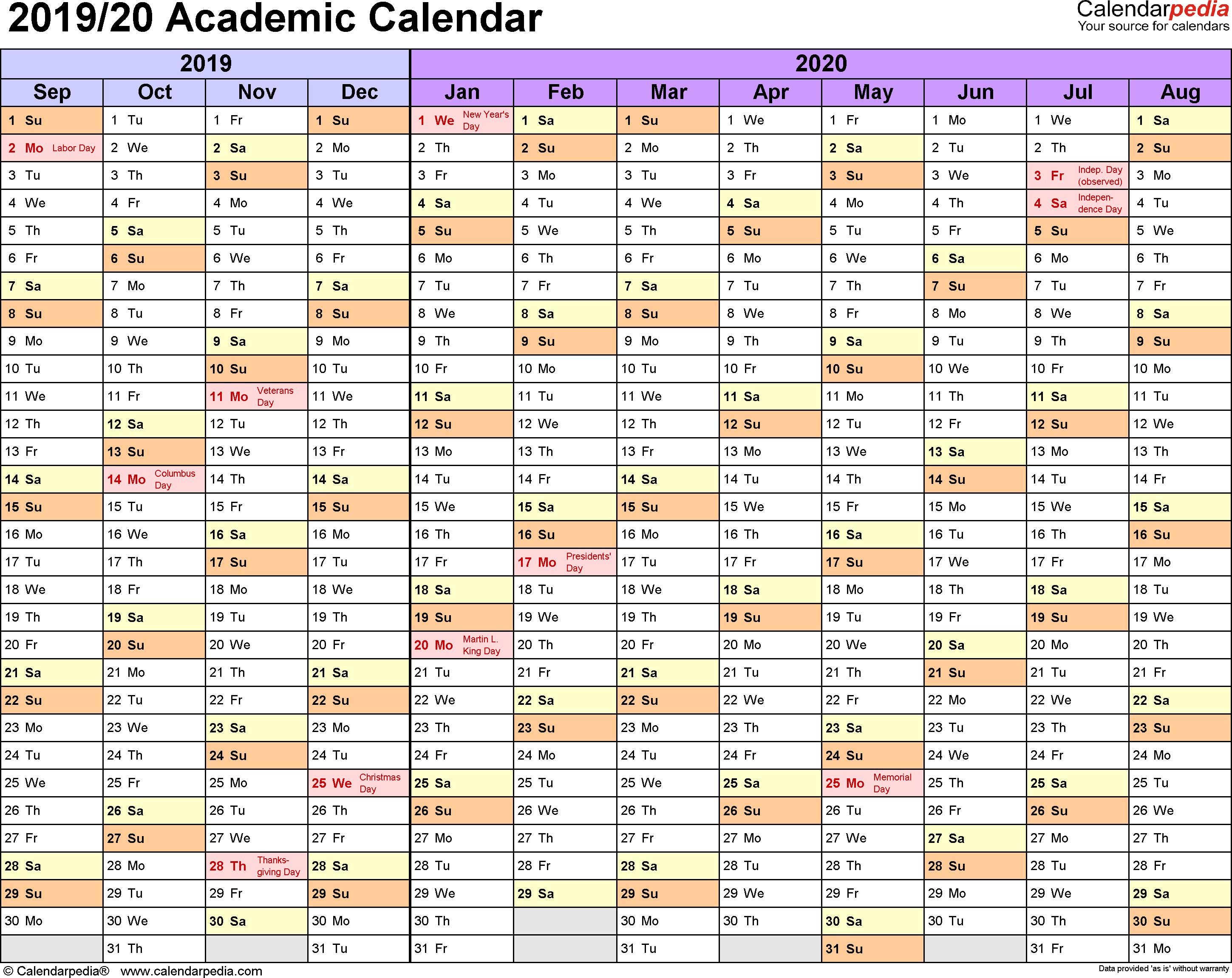 Calendar 2020 Egypt