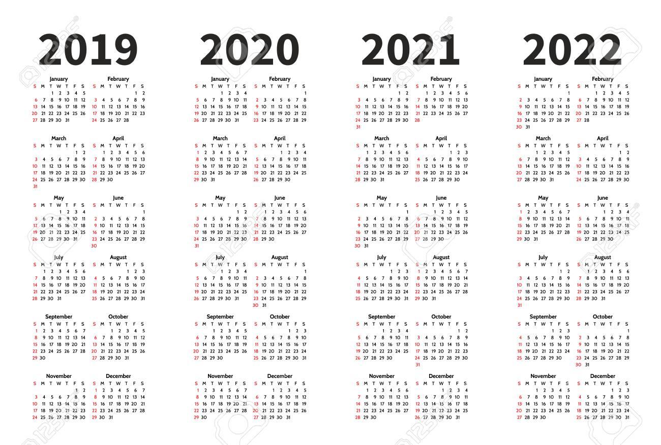 Calendar 2020 To 2022