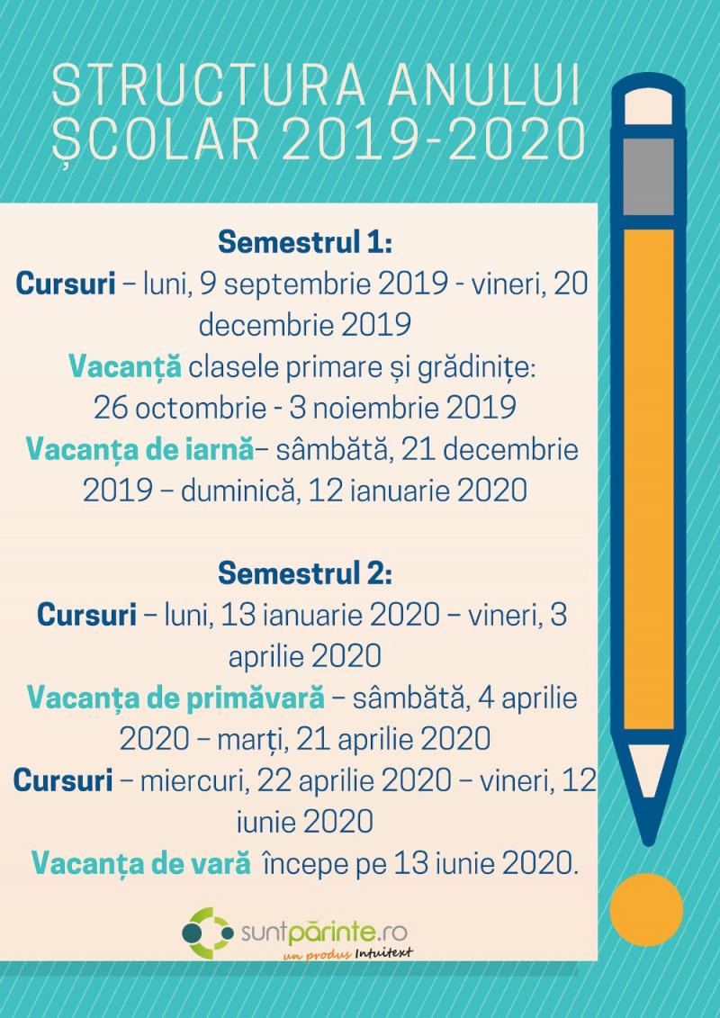 Calendar 2020 Zile Lucratoare