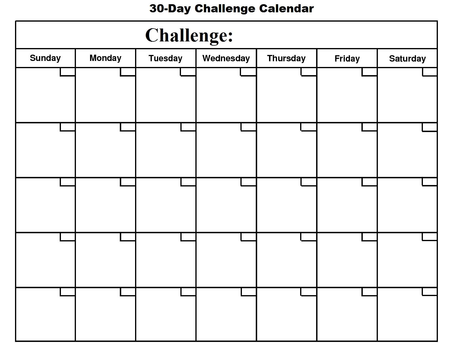 Calendar Blank Days