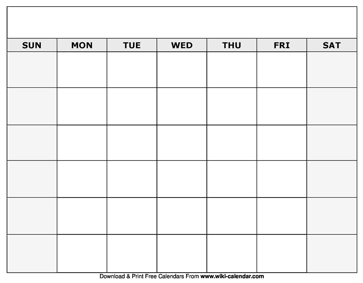 Calendar Blank Download