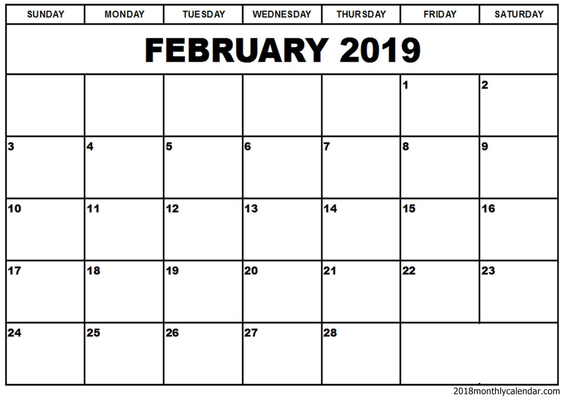 Calendar Blank Format