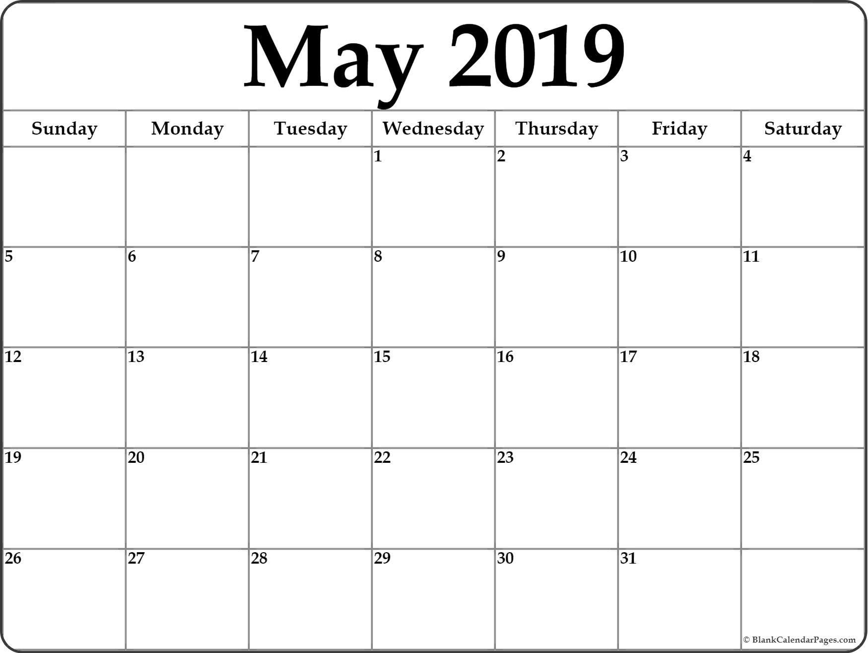Calendar Blank Month