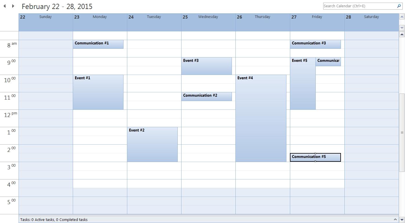 Calendar Blank Outlook