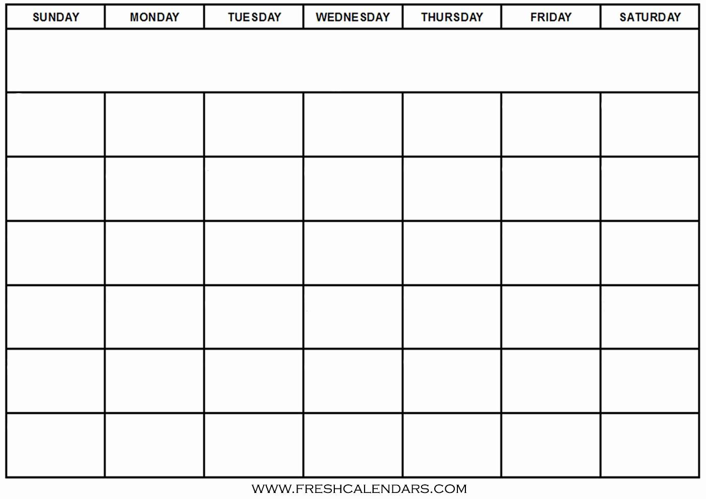 Calendar Blank Pdf