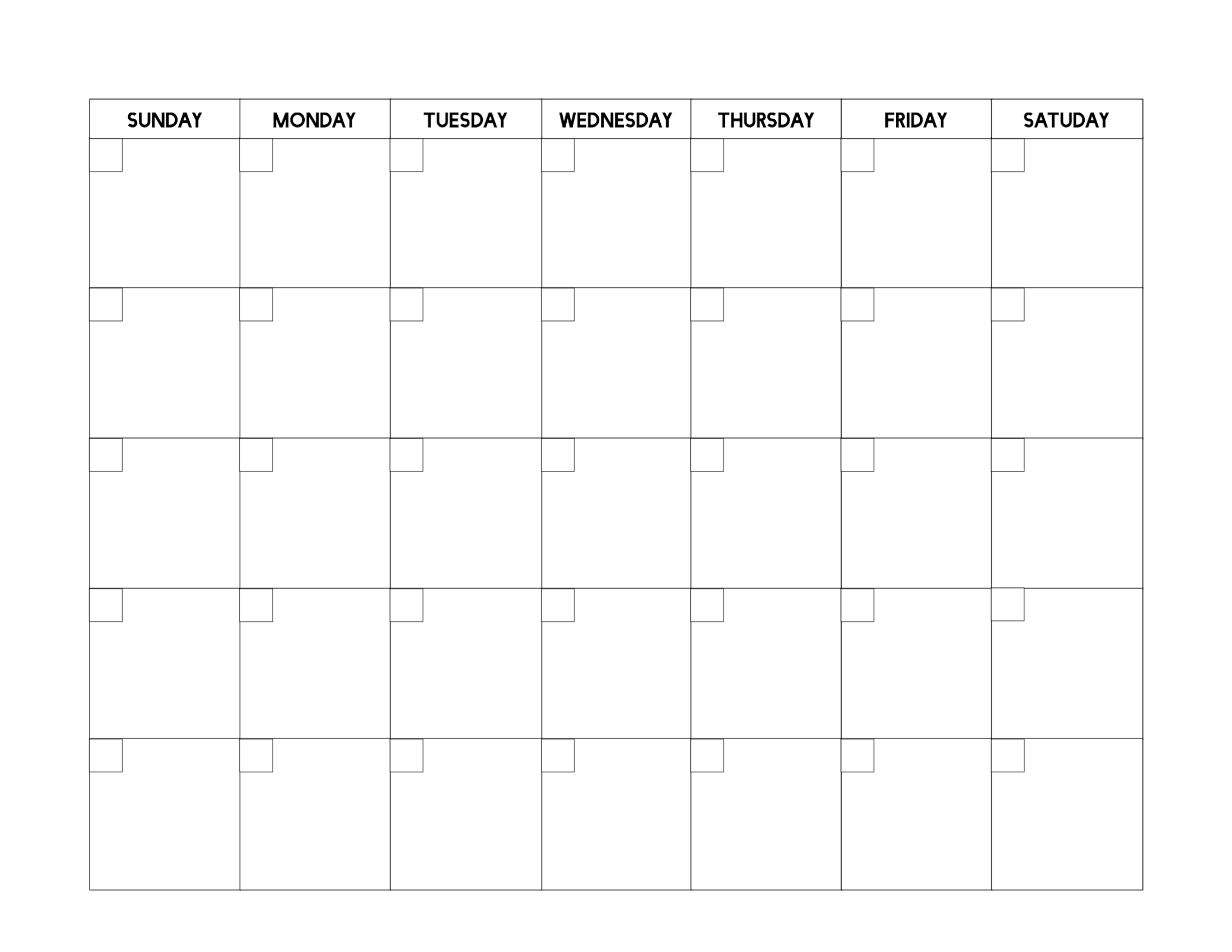 Calendar Blank Picture