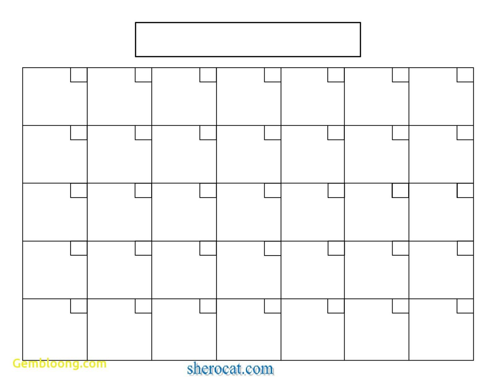 Calendar Blank Sample