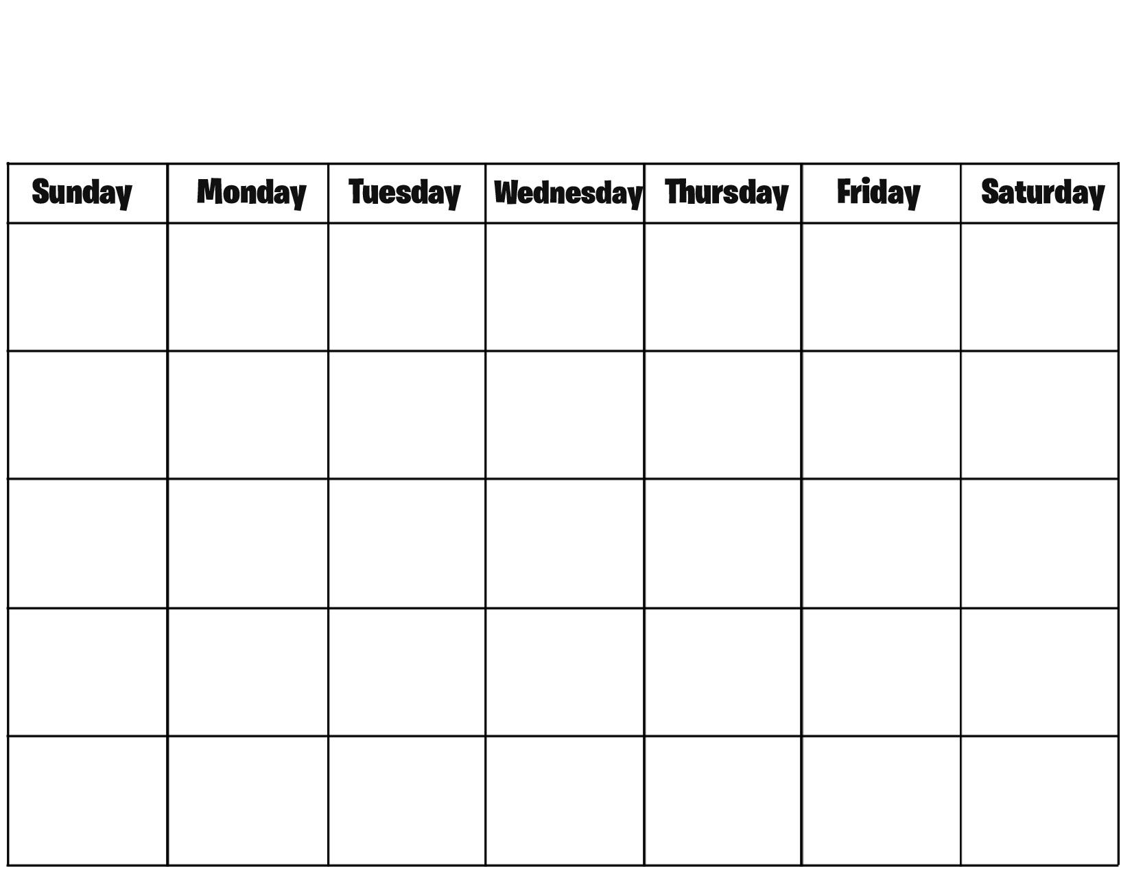 Calendar Blank To Print