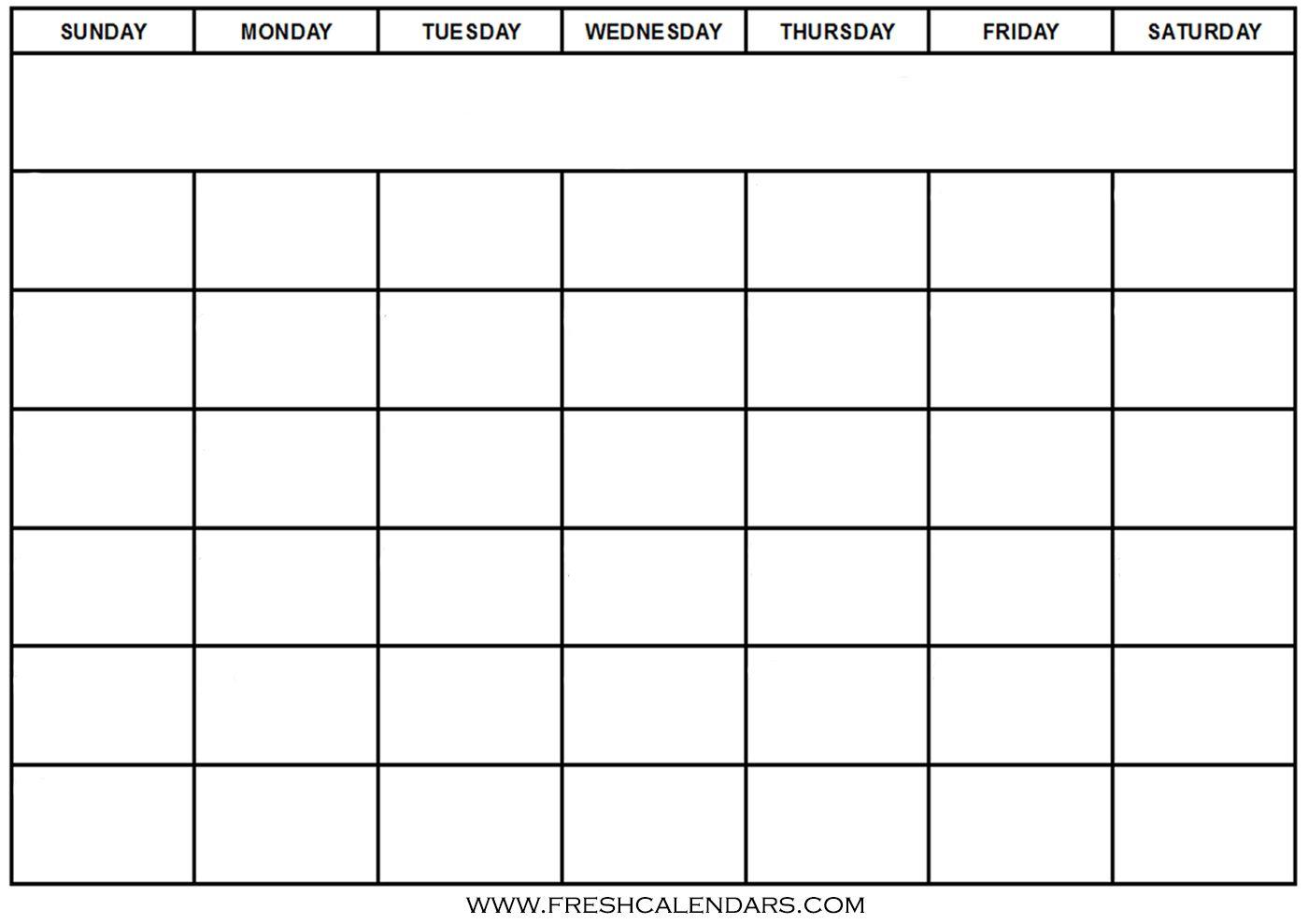 Calendar Blank Word