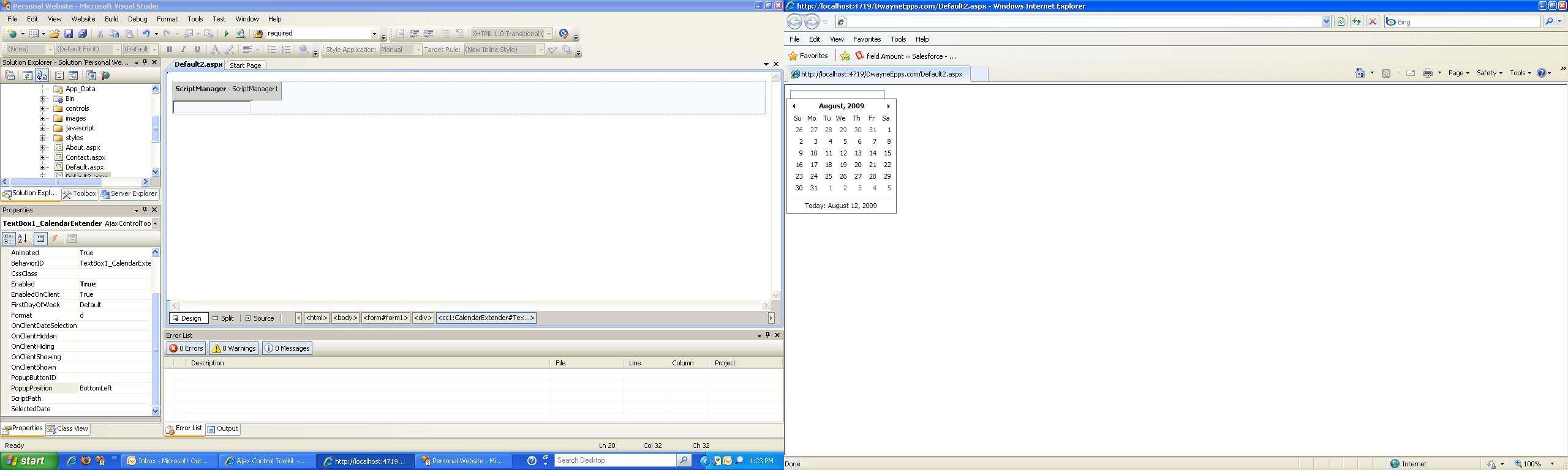 Calendar Extender Blank