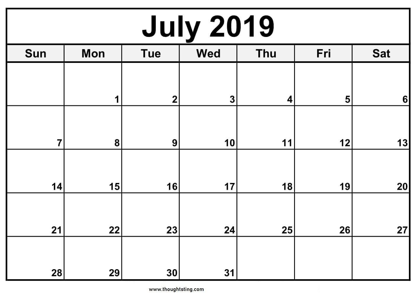 Calendar Format Example