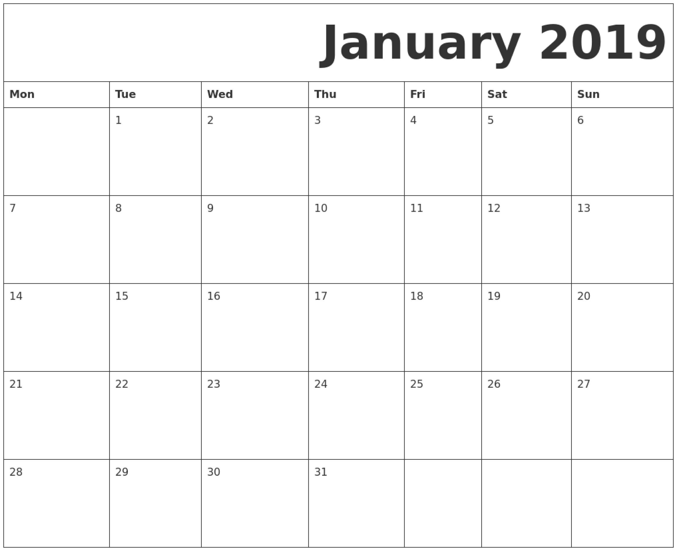 Calendar Goes Blank