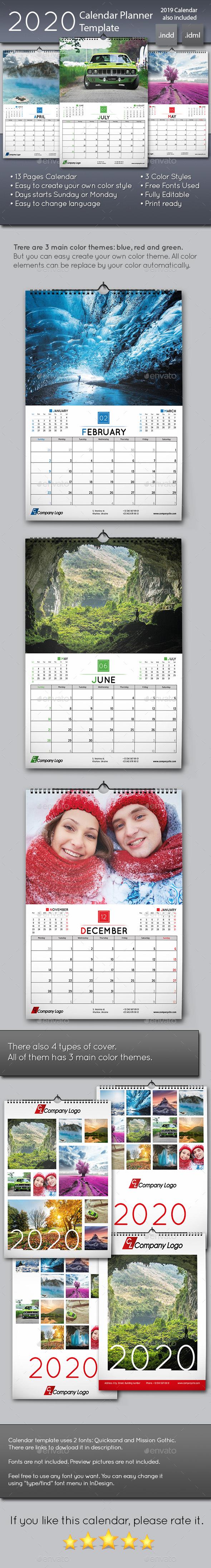 Calendar Templates & Designs From Graphicriver
