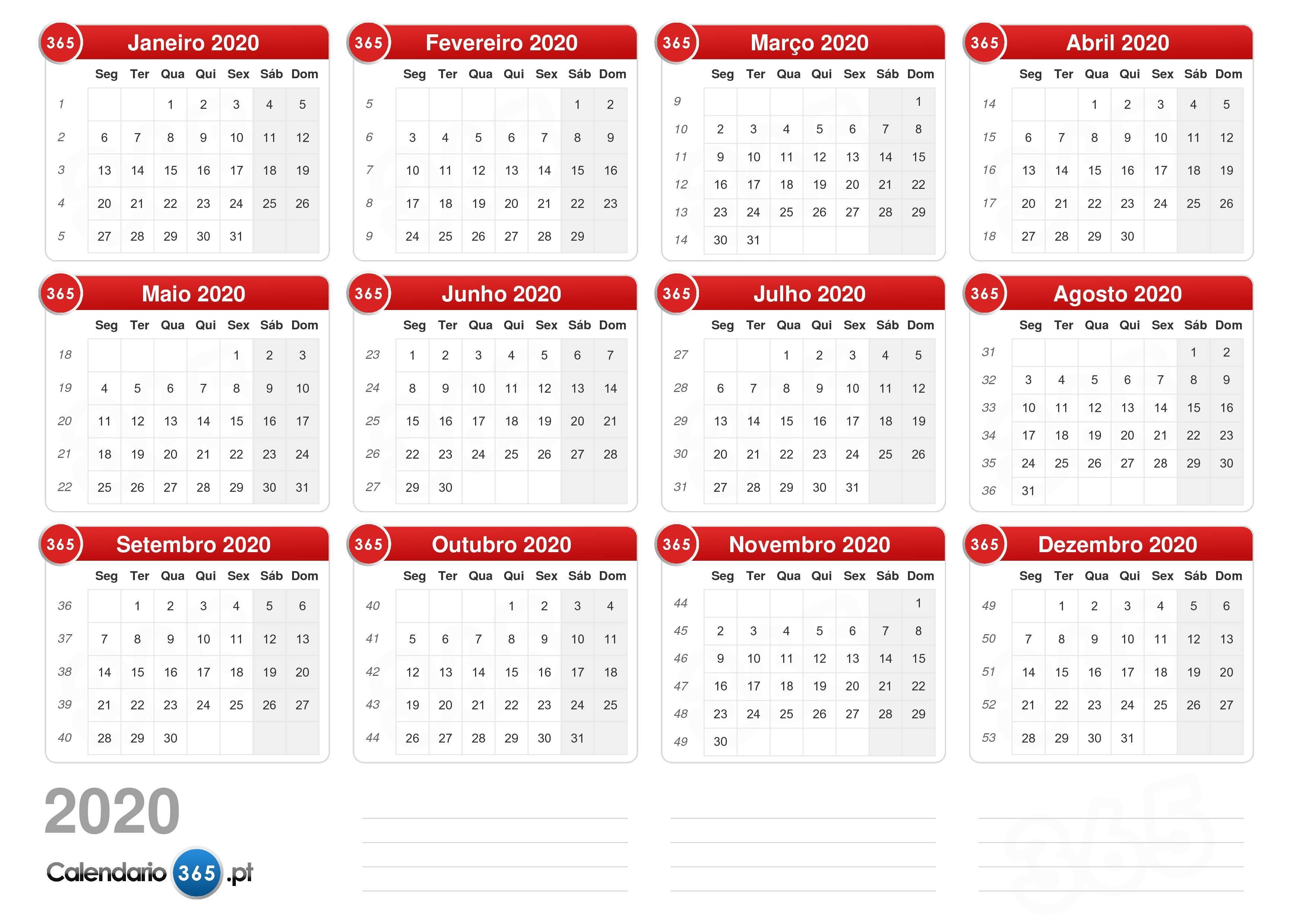 Calendario2019 E 2020