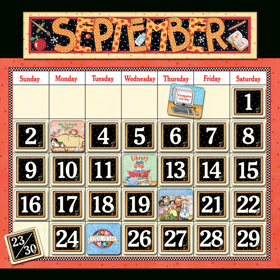 Classroom Calendar Bulletin Board From Mary Engelbreit - Tcr4314