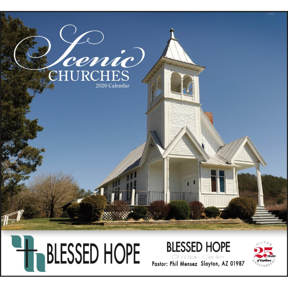 Click Here To Order 2020 Scenic Churches Stapled Calendars Printed