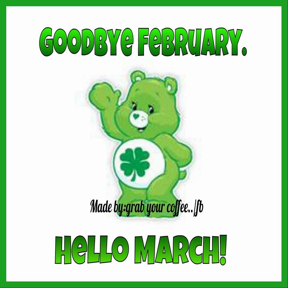 Clover Care Bear Goodbye February Hello March Image Pictures, Photos
